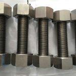 nickel alloy 400 en2.4360 Vollgewindestange mit Mutternbefestigung