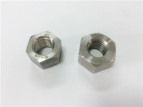 Hersteller spezielle Legierung Verbindungselemente Hastelloy C276 Muttern