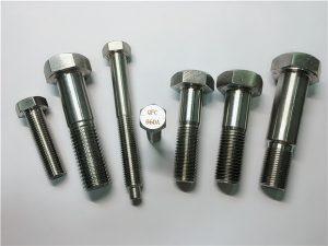 Nr.25-Incoloy a286 Sechskantschrauben 1.4980 a286 Befestigungen gh2132 Edelstahl Hardware Maschinenschraubenbefestigungen
