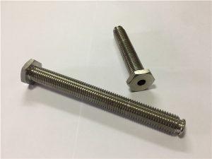No.64-Hollow Titanium Fastener mit Durchgangsloch Titanlegierung 6Al4V Dish Head Inbusschlüssel