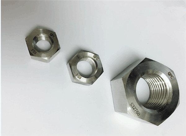 duplex 2205 / f55 / 1.4501 / s32760 Verbindungselemente aus Edelstahl schwere Sechskantmutter m20
